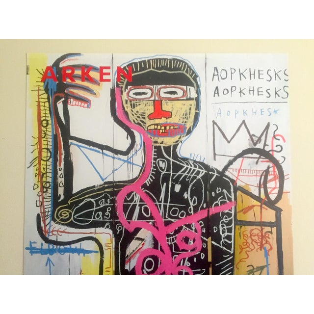 Abstract Andy Warhol & Jean Michel Basquiat Rare Limited Edition Original Offset Lithograph Print Poster For Sale - Image 3 of 11