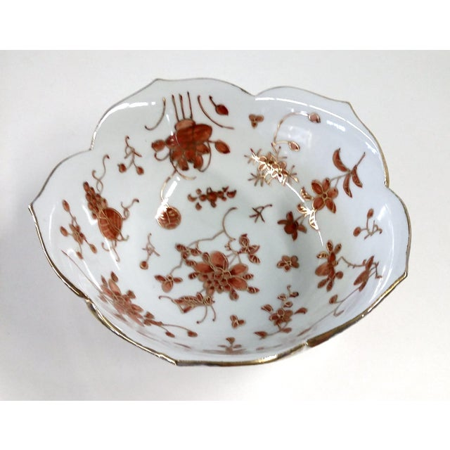 Vintage Hand-Painted Chinese Porcelain Lotus Bowl - Image 9 of 9