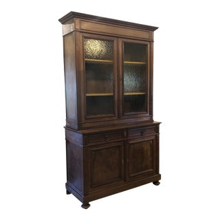 Mid 19th Century French Louis Philippe Buffet à Deux Corps For Sale