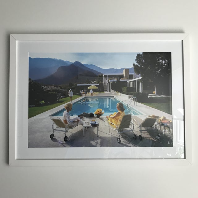 Framed Poolside Gossip print bought from Getty images. The iconic photograph depicts the Kaufmann House, designed by...