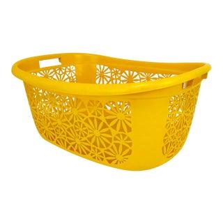 Vintage 1960s Sulo Floral Laundry Basket Designed by Luigi Colani For Sale