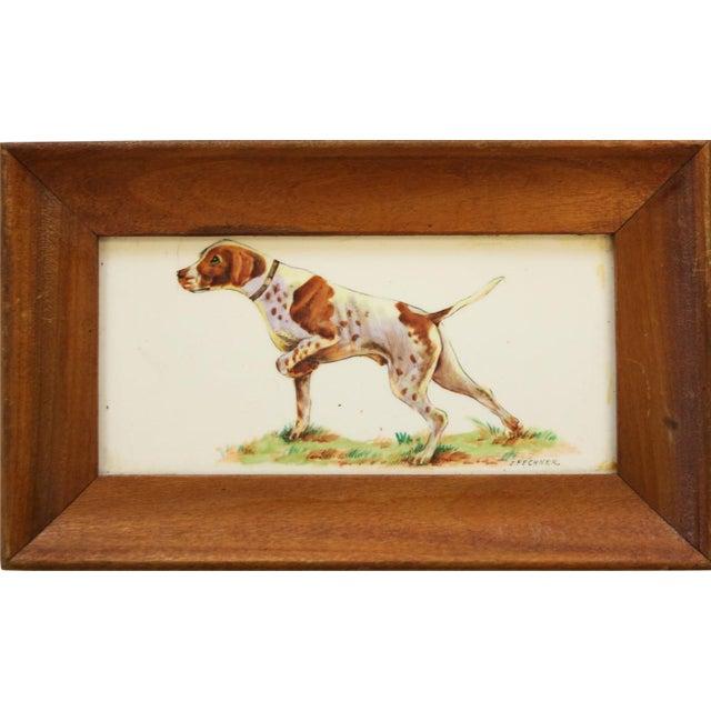Framed Sporting Dog Enamel Print - Image 1 of 4