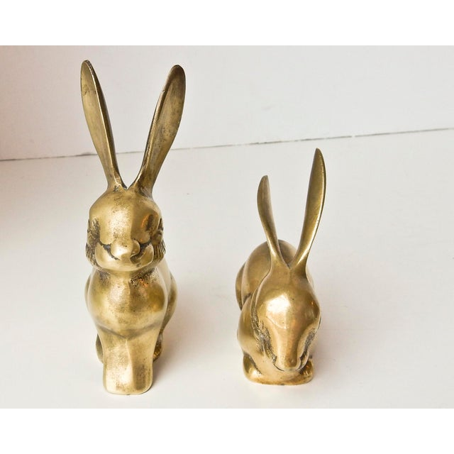 Brass Rabbit Figurines - A Pair - Image 4 of 6