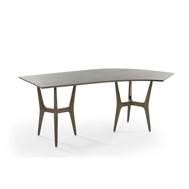 Mid-Century Modern Asymmetrical Walnut Desk For Sale - Image 4 of 13