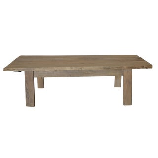 Vintage Reclaimed Wood Rustic Coffee Table For Sale