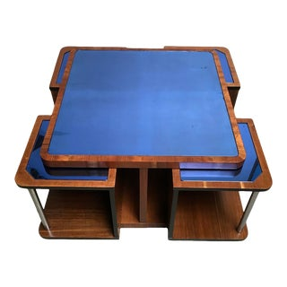 1920s Square Art Deco Coffee Table With Mini Nesting Tables - 5 Pieces For Sale