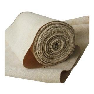 Hemp Fabric Antique Linen Over 15 Yards Bolt Pure Hemp Natural Organic Material For Sale