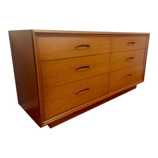 Henredon Mid Century Modern 6 Drawer Dresser Refinished For Sale