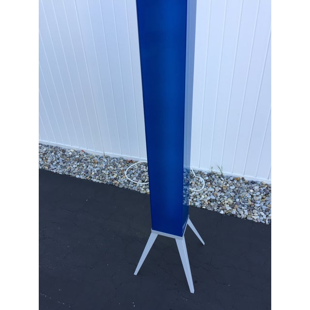 Industrial mod blue glass rectangular floor lamp chairish industrial mod blue glass rectangular floor lamp image 11 of 11 aloadofball Images