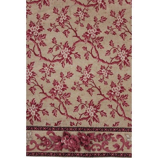 1830s French Floral Pink And Red Curtain For Sale