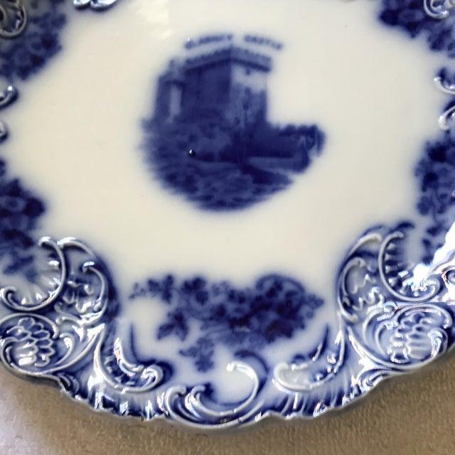 Ceramic Flow Blue Tribley Semi-Porcelian Blarney Castle Plate For Sale - Image 7 of 10