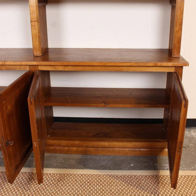20th C. Large Italian Open Bookcase For Sale In San Francisco - Image 6 of 13