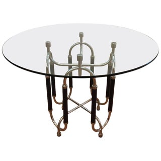 Gambetti and Isola Dining Center Table For Sale