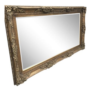 Vintage Gold Wall Mirror For Sale