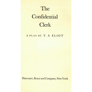 """1954 """"The Confidential Clerk"""" Collectible Book Preview"""