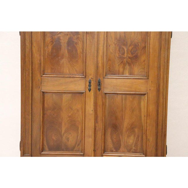 Louis XIV 17th Century Italian Louis XIV Walnut Carved Wardrobe or Armoire For Sale - Image 3 of 13