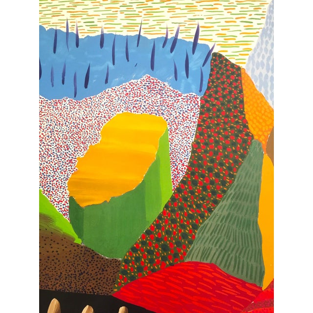 Vintage 1996 David Hockney Original Lithograph Lacma Exhibition Pop Art Poster For Sale In New York - Image 6 of 11