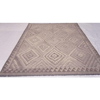 Handwoven Geometric Kilim wool Rug - 6′4″ × 9′10″ Preview