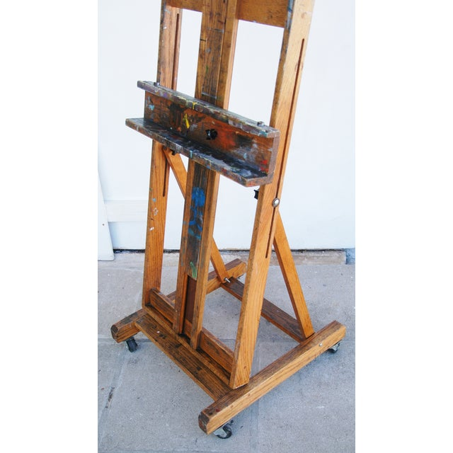 Vintage Adjustable Oak Artist's Easel - Image 6 of 11