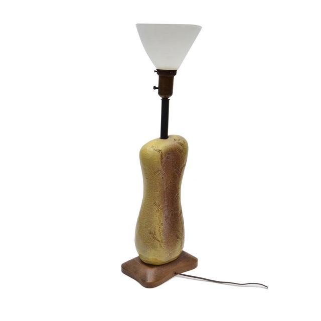 Marked Design Technics Biomorphic Ceramic Table Lamp For Sale - Image 9 of 11