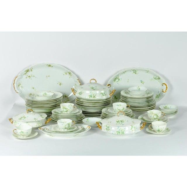 Art Nouveau France Limoges Porcelain Dinner Service - 73 Pieces For Sale - Image 3 of 6