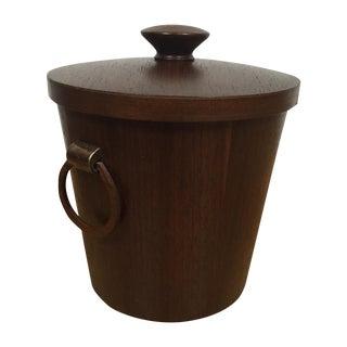 Mid-Century Walnut Ice Bucket
