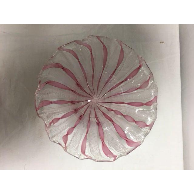 Italian Murano Latticino Glass Bowl For Sale - Image 3 of 6