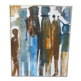 Image of 1970s Vintage Gregory Hawthorne Contemporary Figurative Painting For Sale