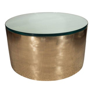 Mid-Century Modern Brass and Glass Cocktail Table in the Manner of Karl Springer