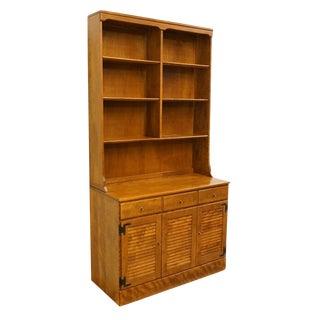 Vintage Mid Century Ethan Allen Heirloom Nutmeg Maple Cabinet For Sale