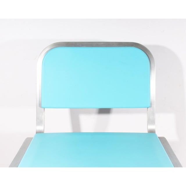 Industrial Late 20th Century Vintage Ettore Sottsass for Emeco Nine-0 Bar Stool For Sale - Image 3 of 11