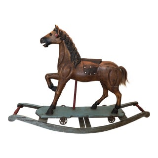 1920s Antique Rocking Horse For Sale