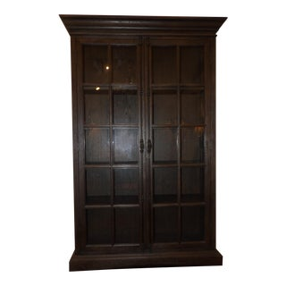 Restoration Hardware, Double Glass Door Cabinet For Sale
