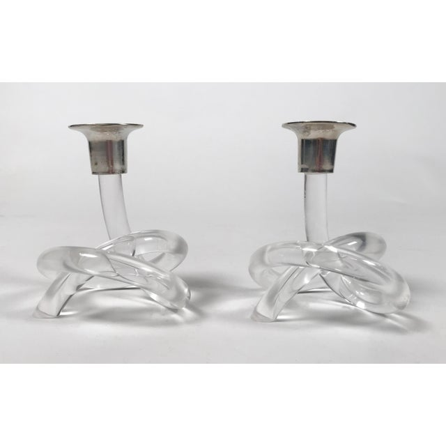 Abstract Dorothy Thorpe Pretzel Candlestick Pair For Sale - Image 3 of 6