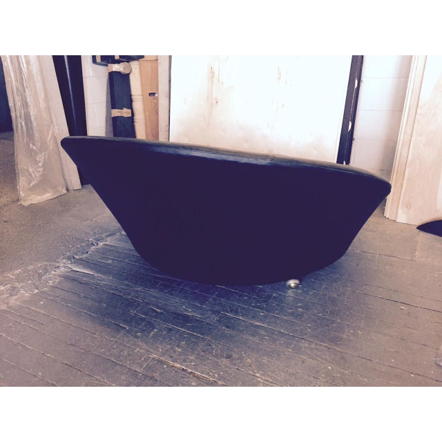 Milo Baughman Round Lounge Chair by Milo Baughman For Sale - Image 4 of 4