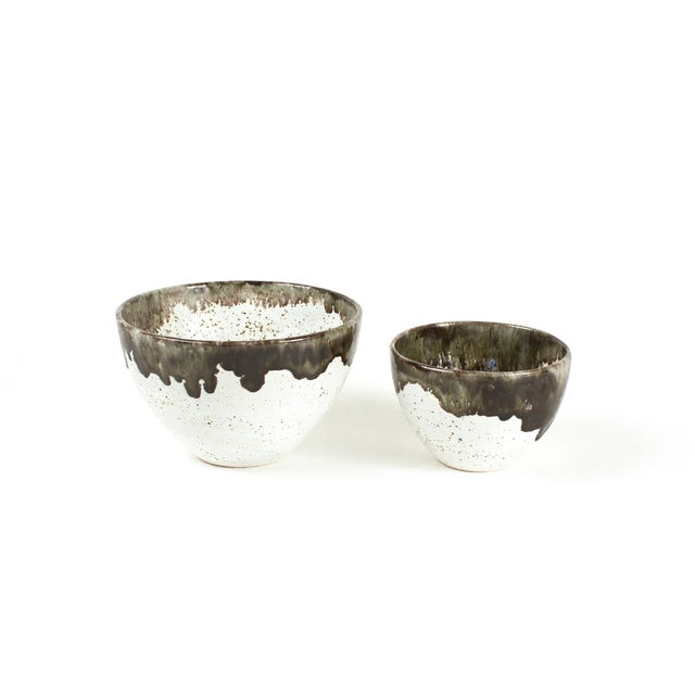 Gray Speckled Bowls - Pair - Image 2 of 4