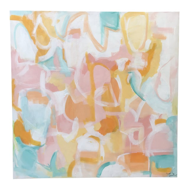"Christina Longoria ""Playa Hermosa"" Abstract Painting For Sale"