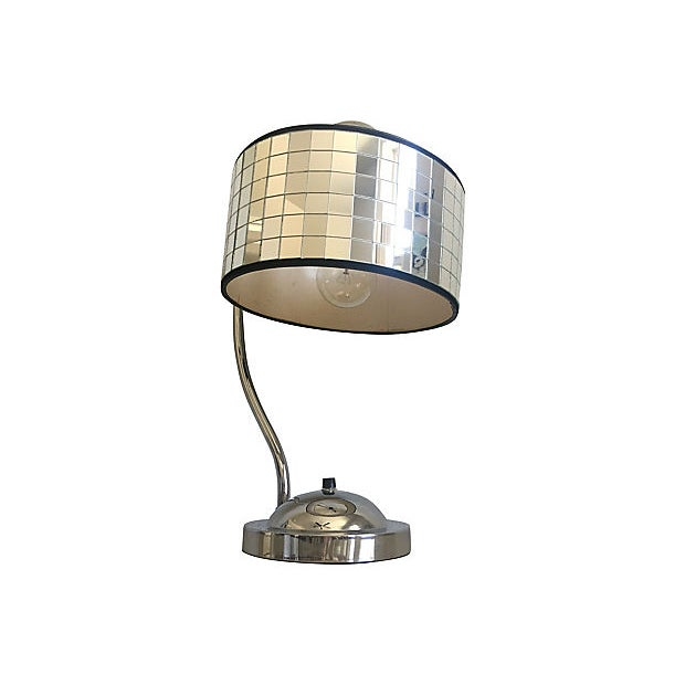 Hollywood Regency Hollywood Regency Lamp & Shade For Sale - Image 3 of 10