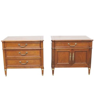 Companion Pair of Baker Nightstands For Sale