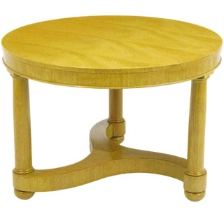 Empire Style Bleached Mahogany Coffee Table For Sale