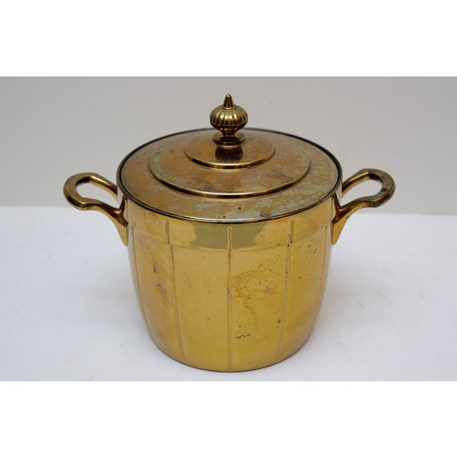 Brass Ice Bucket with Glass Liner - Image 3 of 6
