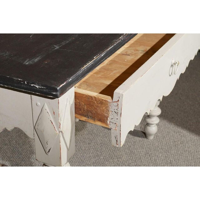 French Painted Wood Butcher Table - Image 6 of 7
