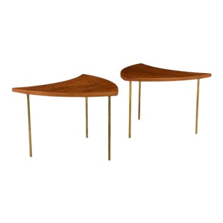 1950s Peter Hvidt Model 523 Side Coffee Tables - a Pair For Sale