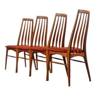 Set of 4 Koefoeds Hornslet Eva Chairs in Teak, Denmark For Sale