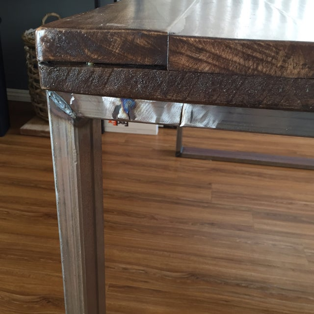 Handmade Reclaimed Wood Dining Table - Image 4 of 9