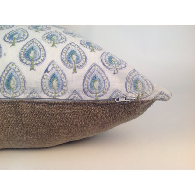 Vintage Block Printed Kantha Quilt Pillows - Pair For Sale - Image 4 of 4