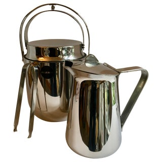 Alessi Ice Bucket Tongs and Pitcher For Sale