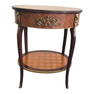 20th Century French Inlay Side Table For Sale