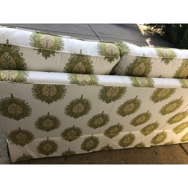 Modern Upholstered Ikat Print Sofa by Century Furniture For Sale - Image 12 of 13