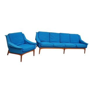 1960's Vintage Bramin Denmark Sofa & Chair Set- 2 Pieces For Sale